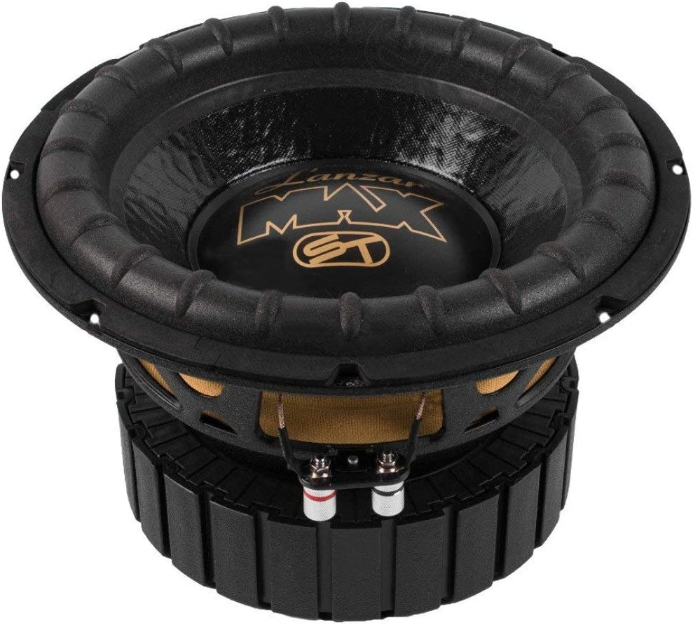 """SUBWOOFER SUB LANZAR MAX12 MAX 12 OF 30,00 CM 12"""" 300 MM OF DIAMETER 4 OHM OF 500 WATT RMS AND 1000 WATT MAX SINGLE COIL OF 4 OHM FOR CAR"""