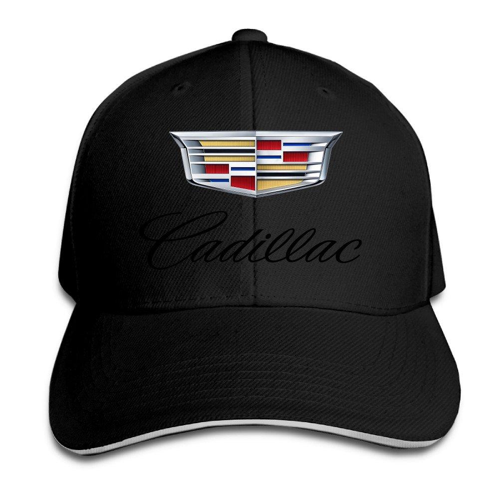 ACMIRAN Cadillac Logo Fashion Sandwich Baseball Caps One Size White