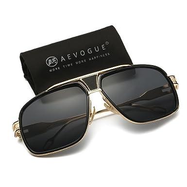 pilot sunglasses brand  Amazon.com: AEVOGUE Aviator Sunglasses For Men Goggle Alloy Frame ...
