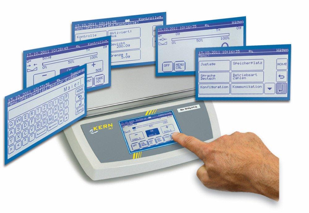 Tischwaage mit mit mit Touchscreen [Kern FKT 60K10LM] Touchscreen-Industriewaage mit riesigem Funktionsumfang, mit Eichzulassung [M], Wägebereich  60 kg, Ablesbarkeit  10 g B06XF6F9VS | Gewinnen Sie hoch geschätzt  | Up-to-date-styling  | Zürich Online Sho ca1252