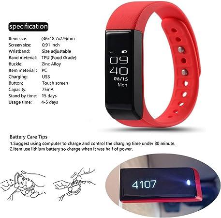 ROGUCI Podómetro Reloj Pulsera de Monitorización Touchscreen ...