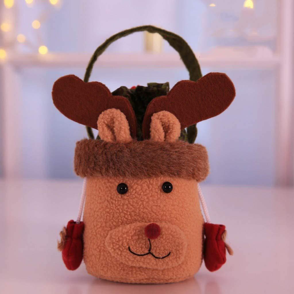Amazon.com: Bolsa de Navidad portátil, bolsa de caramelos ...
