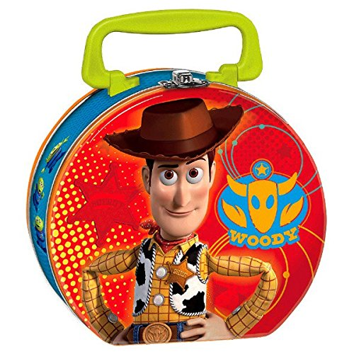 Amscan Toy Story Power Up Birthday Party Metal Lunch Box Favor, 6'' X 7 3/5'' X 2'', Red/Green/Blue
