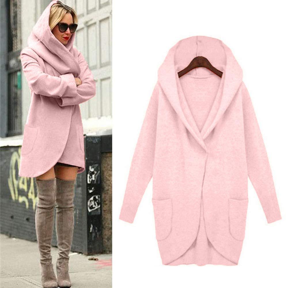 Dainzuy Ladies Sexy Casual Coat,Women Loose Hoodies Woolen Thin Coat Jacket Overcoat by Dainzuy (Image #2)