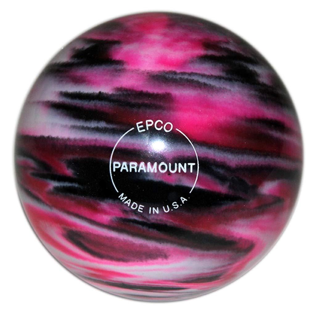 Bowlerstore Products キャンドルピン パラマウント マーブル加工 ボーリングボール 4.5インチ - マゼンタ/ブラック/ホワイト 2ポンド 5オンス B07P13B7N7
