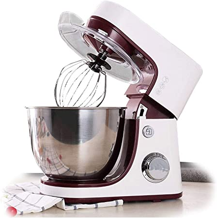 Robot de cocina multifunción, 4,2 L, 800 W máx. para pan y pasta 6 velocidades, sin ruido menos que 80 dB (batidor, gancho, batidor): Amazon.es: Hogar