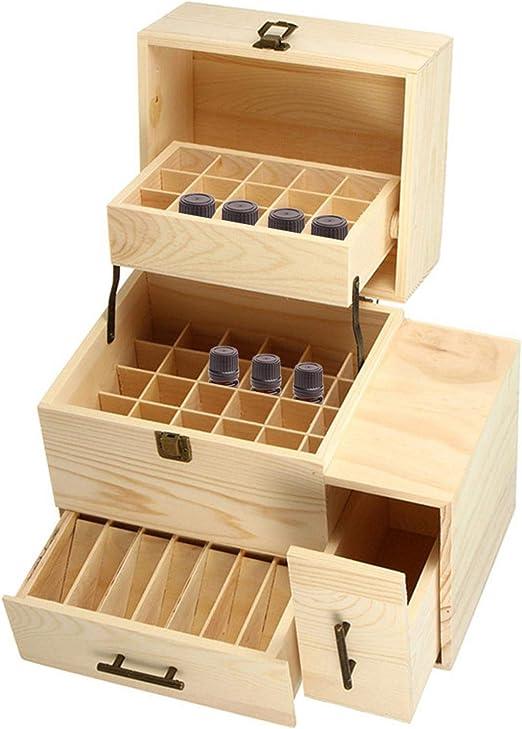 iBàste Caja de Aceite Esencial de Madera, Caja de empaque de Fragancia, de Alto Grado 3 - Contenedor Organizador de Caja de Aceite Esencial de aromaterapia de Capa: Amazon.es: Hogar