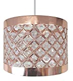 Moda Sparkly Ceiling Pendant Light Shade Fitting, Metal, Coppe