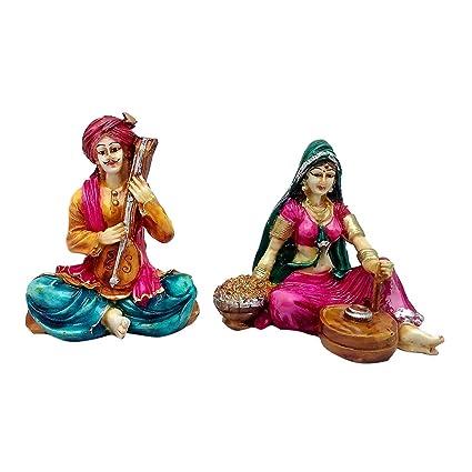 buy art n hub multicolour pair of rajasthani handicrafts showpiece