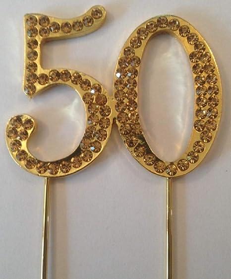 accessories4u2buy Decoración Dorada para Tarta de 50 ...
