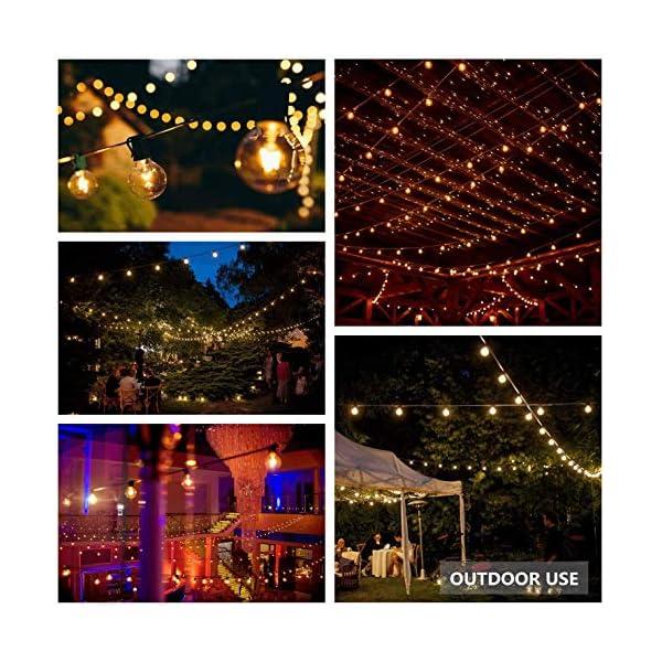 Catena Luminosa Esterno, Bomcosy 30m Luci da Esterno LED Catene Luminose per Esterni con 50+2 G40 Filo Lampadine Luminarie Lucine da Esterno Decorative per Giardino Natale Terrazza Matrimonio Partito 6 spesavip