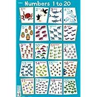 Numbers 1 - 20 (Collins Children's Poster)