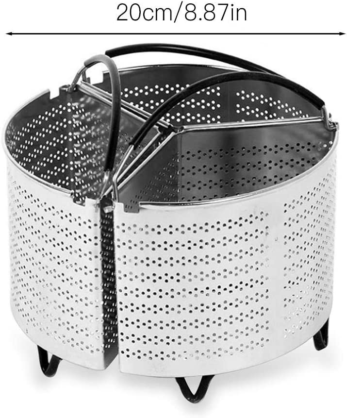 Vegetables Saucepan Triple Divider And Separator Set Boiled Eggs.for 6 Qt Pressure Cooker Potatoes Mussels Three Part Professional Stainless Steel Strainer Saves Energy and Space When Cooking