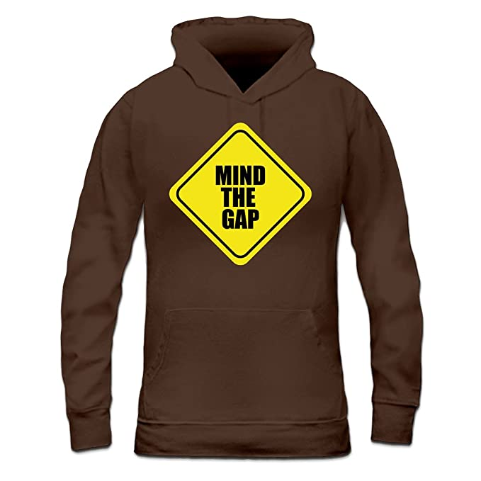Sudadera con capucha de mujer Mind The Gap Warning by Shirtcity: Amazon.es: Ropa y accesorios