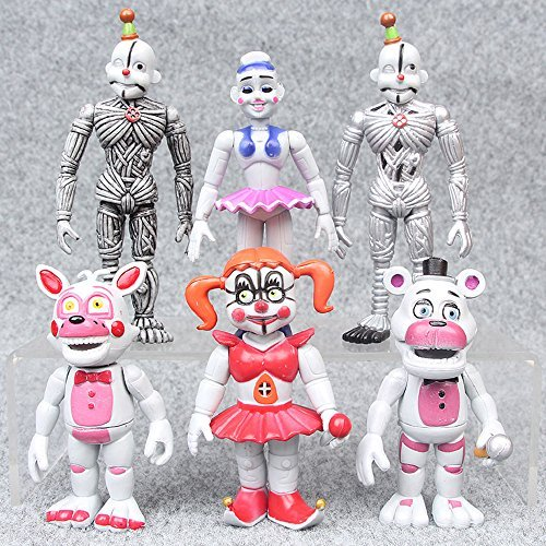 gg Five nights at freddy's 6 PCS FNAF PVC Movie Action Figures Toys Gifts US (Halloween Pranks Pizza Box)