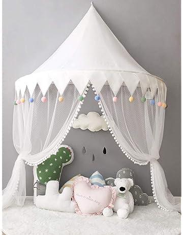 Cielo de cama rosa cama dosel niño Niña mosquitera cortina cama Deco cámara bebé cuna tienda