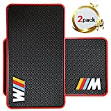 Car Phone Holder, Marrrch Extra Large Sticky Car Pad Dashboard Premium Anti-Slip Gel Mat,2Pack 11'' x 7'' Mounting Pad for Cell phone Smartphone or GPS Devices (Black-Red)