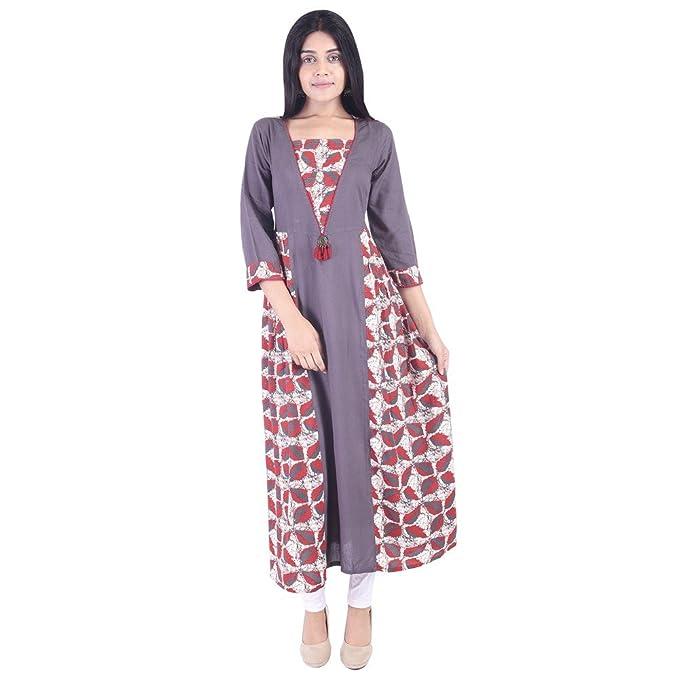 7a2bebe3f6a Vihaan Impex Indian Kurtis for Women Kurti Kurtas for Women Bust Size 42  Inches Grey