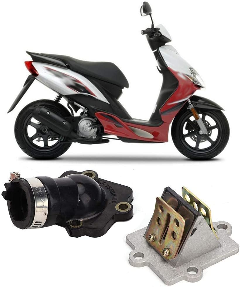 carburador V/álvula de leng/üeta de arranque conjunta del colector de admisi/ón para Yamaha Jog 50 CY50 1992-2001 Colector de admisi/ón