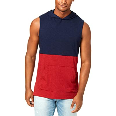 American Rag Mens Colorblock Hooded Muscle Tank at Men's Clothing store