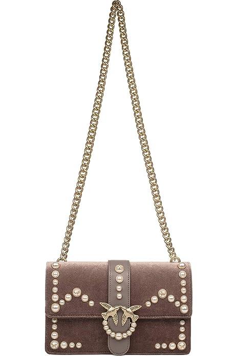 scarpe di separazione 98d64 0b8ab Pinko Love Velvet Pearls Tracolla Velluto+perle, Women's Shoulder ...