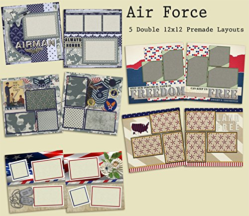 Air Force Scrapbook Set - 5 Double Page Layouts