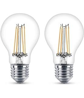 Philips - Bombilla decorativa LED con filamento, E27, 6 W, equivalente a 60