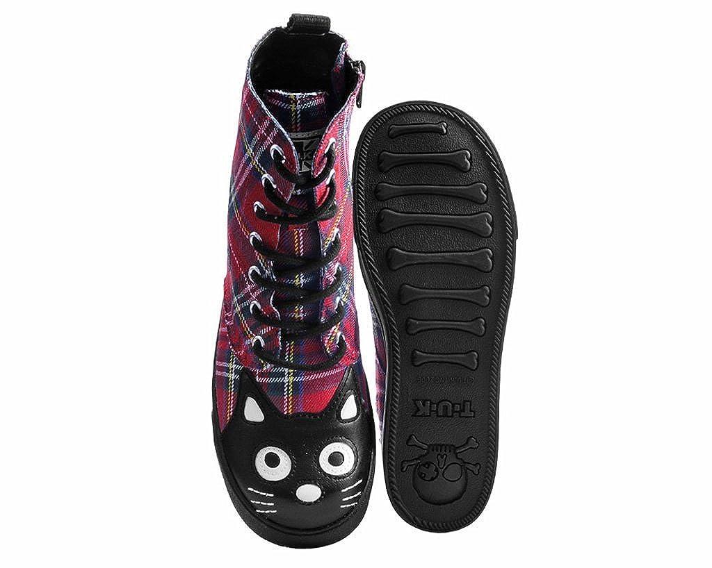 T.U.K. Schuhes Frauen Rot Karierte Sneaker Kampf Boot Rot Rot Rot 48bdd0