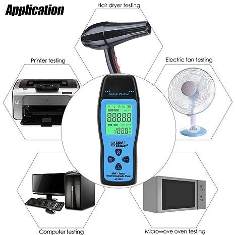 Amazon.com: EMF Medidor de campo electromagnético detector ...