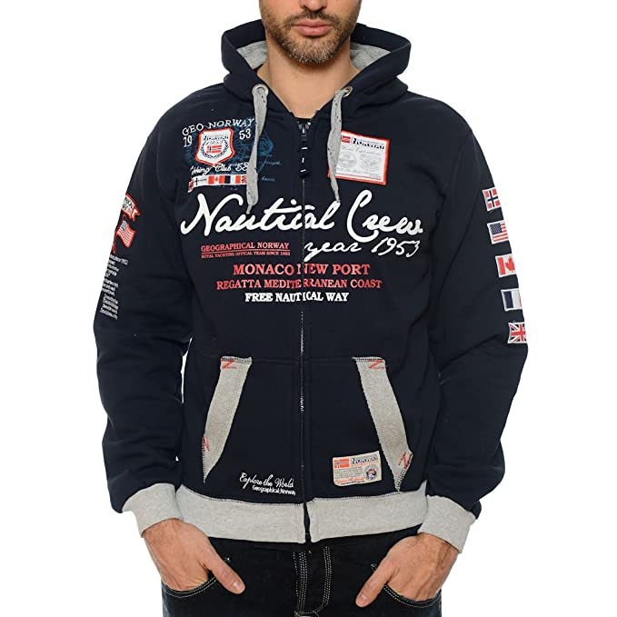 Sudadera con capucha para hombre Geographical Norway Gautical azul marino XXL: Amazon.es: Ropa y accesorios