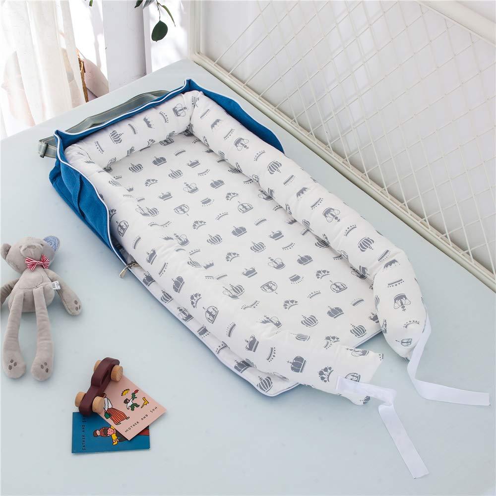 Corona Gris Capazo de Beb/é Nido Transpirable para Beb/é Reci/én Nacido para Cosleeping TEALP Tumbona para beb/é con Almohadas
