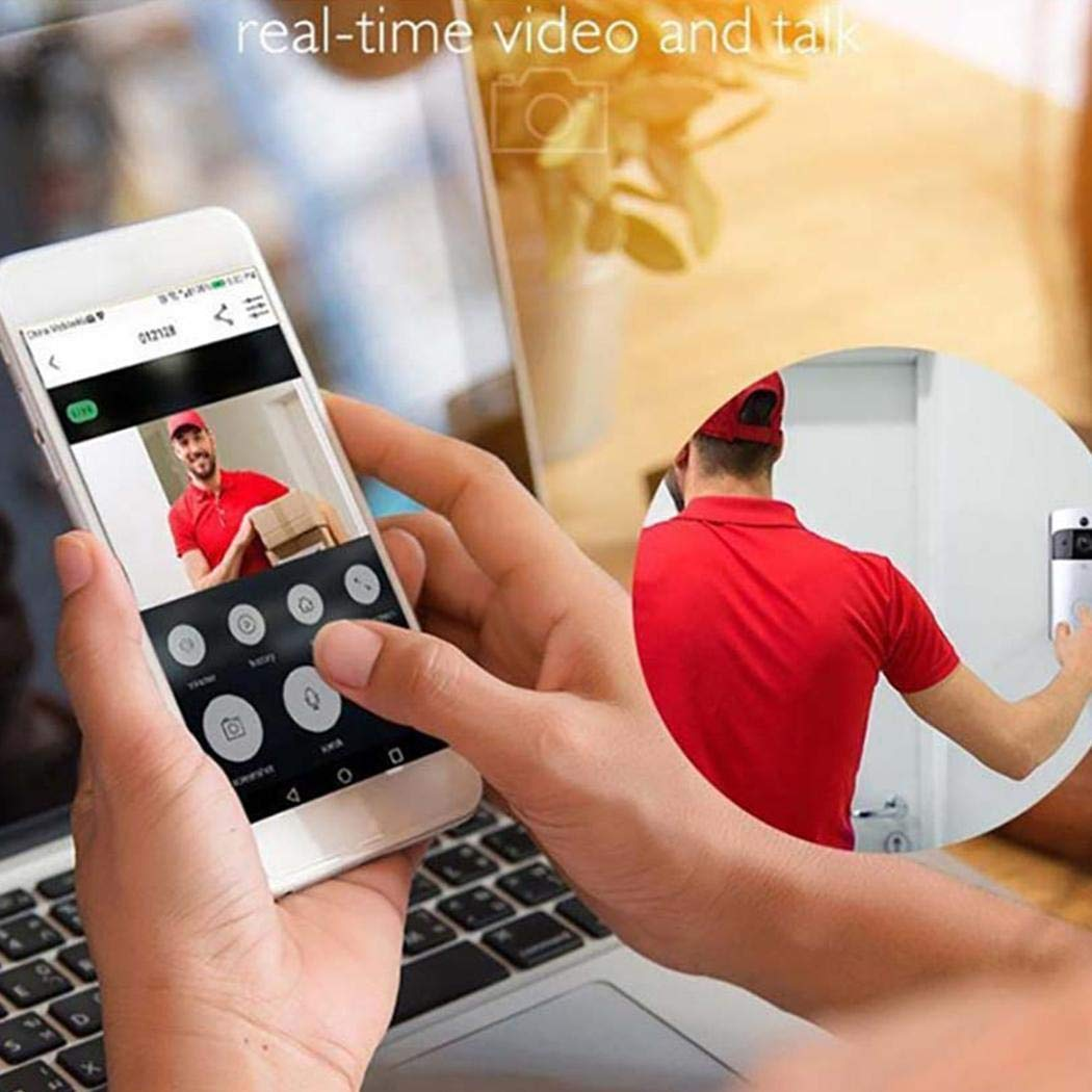 Mandii Video Wireless Doorbell WiFi HD Home Security Wide Angle Night Vision Doorbell Kits by Mandii (Image #3)