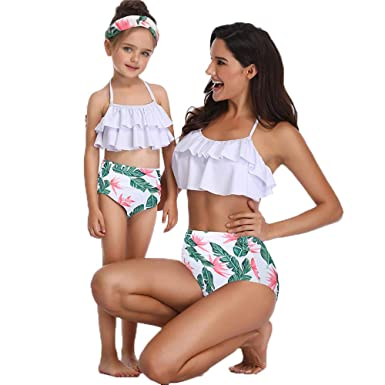8224ad3ae8 Image Unavailable. Image not available for. Color: Family Matching Swimwear  - Fancy Mother and Daughter Swimwear Family Matching Swimsuit ...