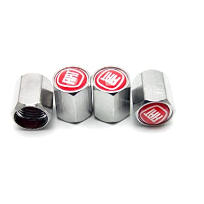 Chrome Metal Tire Valve Stem Caps for Fiat All Model set of 4