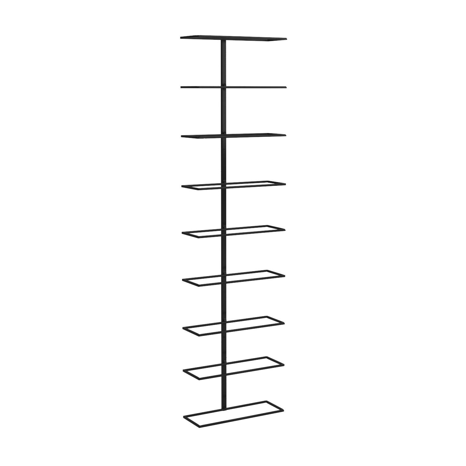 Align Wall-Mounted Vertical Wrought Iron 9 Bottle Wine Rack by True