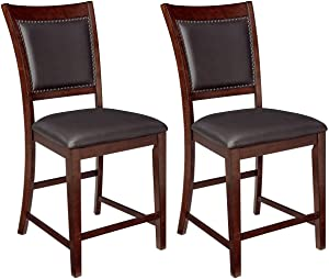 Ashley Furniture Signature Design - Collenburg Counter Height Bar Stool - Dark Brown