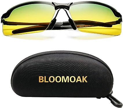 Hommes Anti-éblouissement TAC conduite lentille UV400 Lunettes de Soleil Vision Nocturne Polarisé Verres