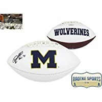 "$149 Get Desmond Howard Autographed/Signed Michigan Wolverines Embroidered NCAA Football with ""Heisman 91"" Inscription"