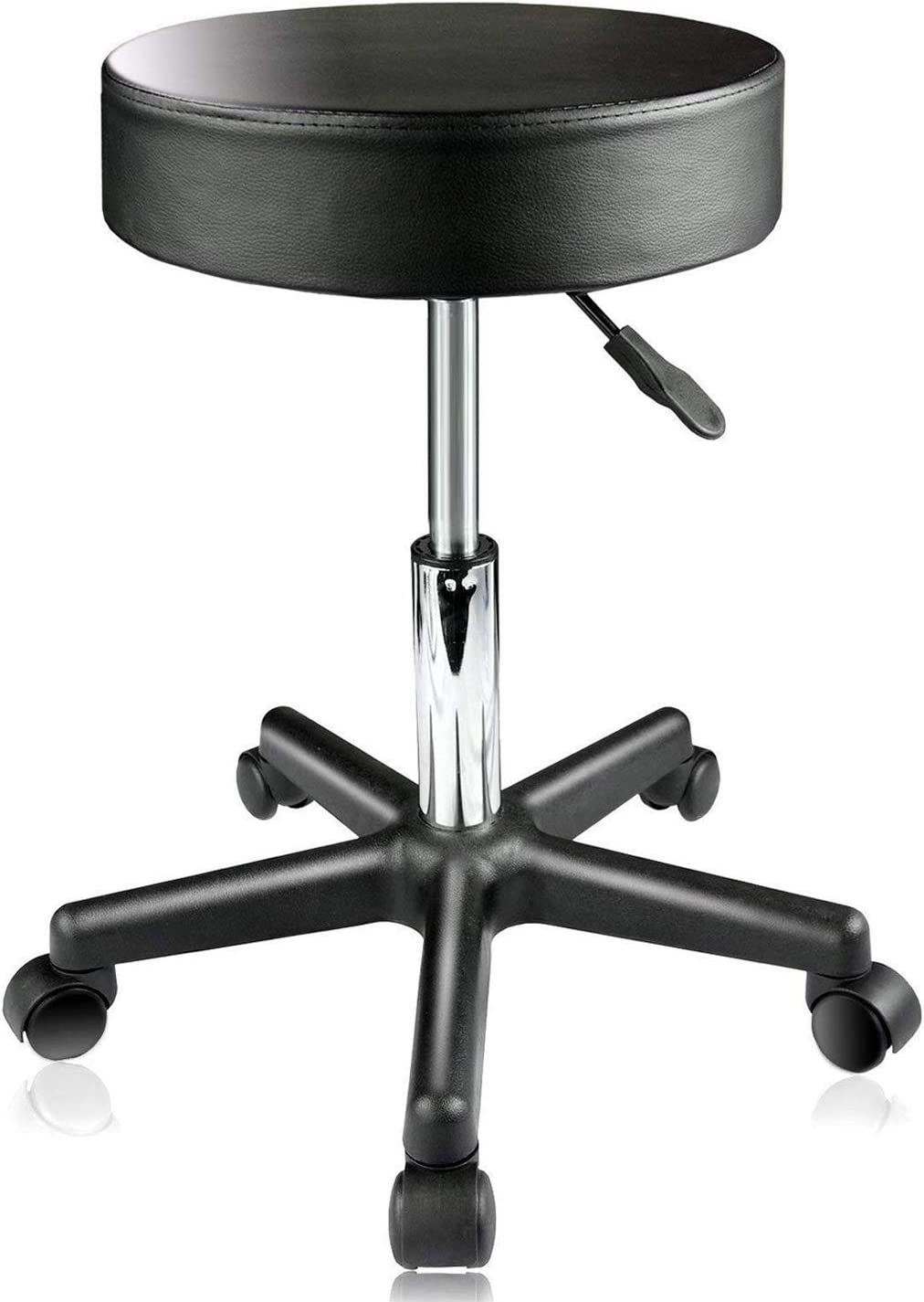 PARTYSAVING Supportive Adjustable Hydraulic Rolling Swivel Stool for Massage and Salon Office Facial Spa Medical Tatoo Chair Cushion & Wheels – Extra Large, APL1159: Kitchen & Dining