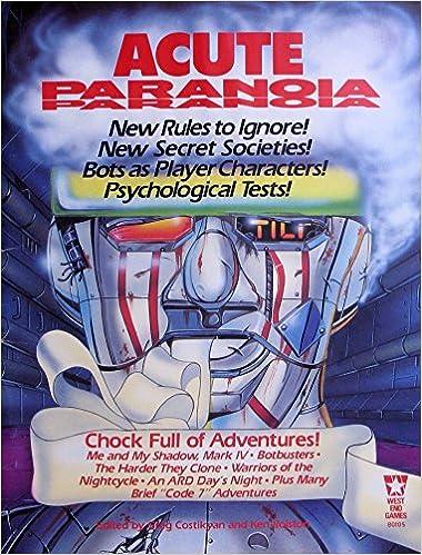 Book Acute Paranoia (Paranoia RPG)