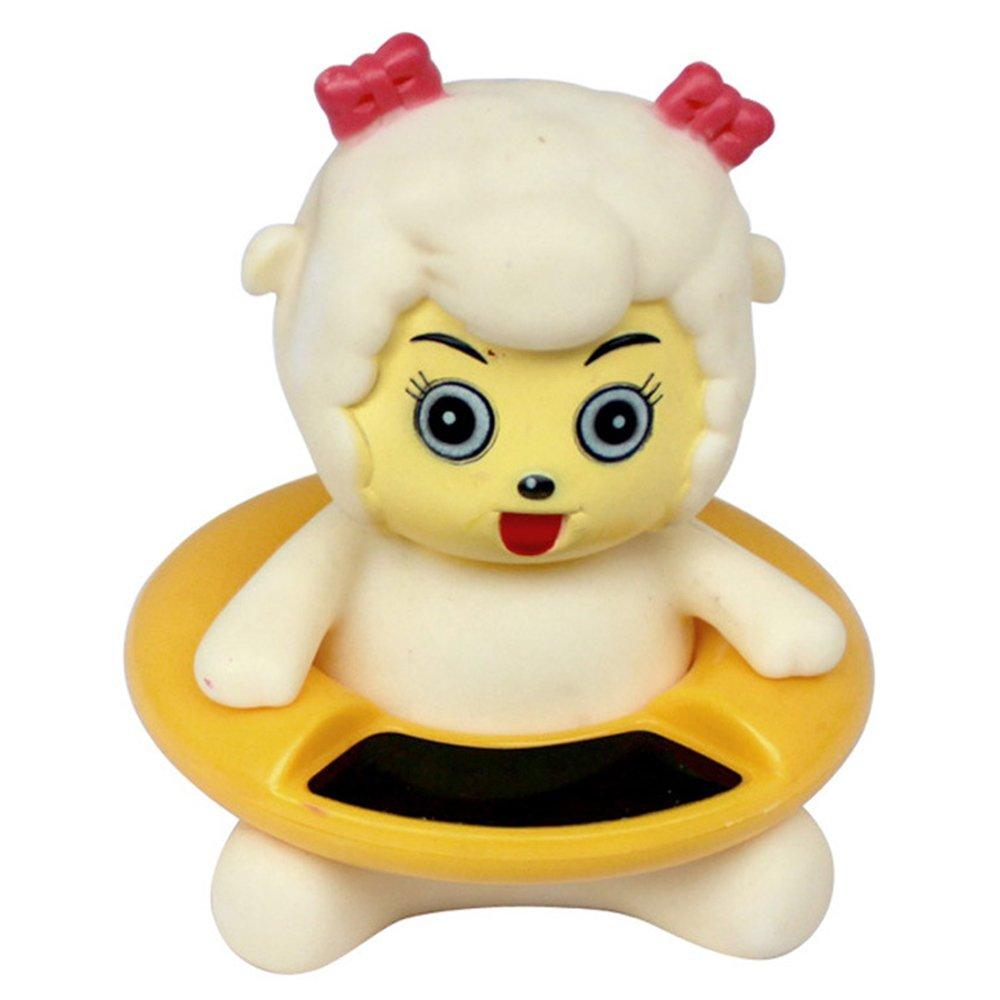 Termómetro para Bebés, Dibujos Animados Digital Termómetro para Baño, Anti Caliente Termómetro Electrónico, Juguete de Baño Flotante de Bebé (amarillo-pato) relangce