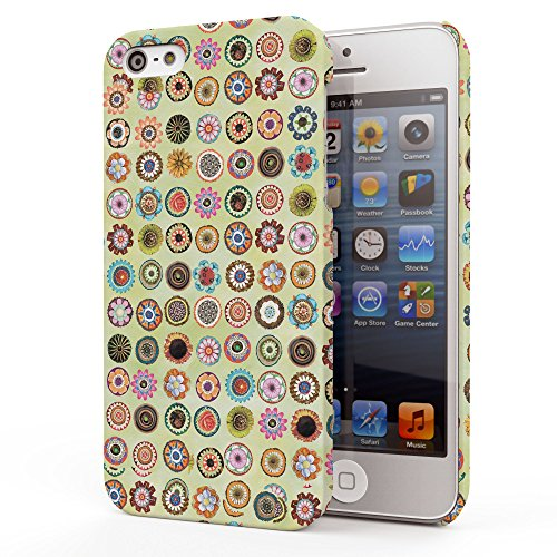 Koveru Back Cover Case for Apple iPhone 5S - Pattern of flowers
