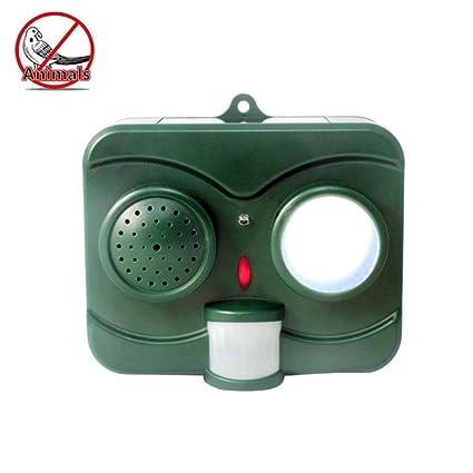 Umiwe Acuosa óptica Repelente de Aves, LED Repelente de Animales con Sensor de Movimiento,