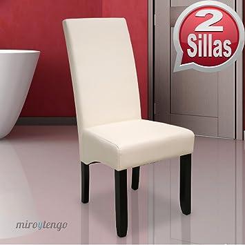 pack de sillas osaka blancas de saln comedor de polipiel blanco roto y acolchadas