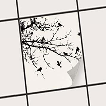 Creatisto Fliesen Aufkleber   Deko Dekorsticker Badfliesen Küchen Folie  Wanddeko   15x20 Cm