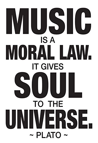 Plato Music Poster 13 X 19in With Hanger