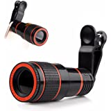 Cellphone Camera Lens, Universal High Definition 12X Optical Zoom Focus Mobile Phone Lens, Clip-on Telescope for Smartphones