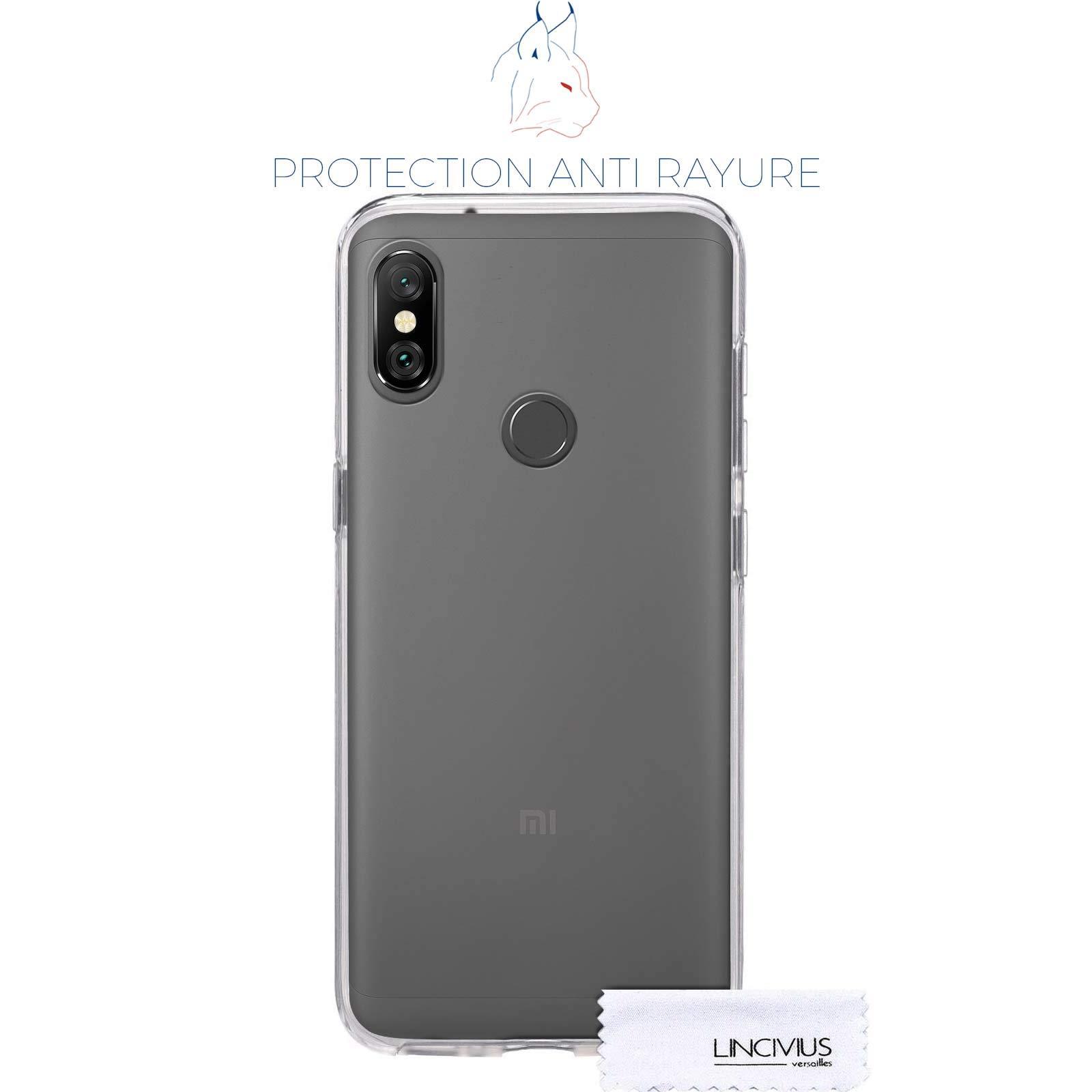 Coque Integrale Compatible avec Xiaomi Redmi Note 6 Pro, Coque de Protection 2 en 1 Bumper Transparent Silicone Avant Et Arrière Contour Bumper Rigide pour Xiaomi Redmi Note 6 Pro, Transparent