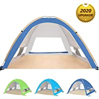 KEUMER Venustas Large Pop Up Beach Tent Automatic Sun Shelter Cabana Easy Set Up Light Weight Camping Fishing Tents 4…