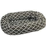 "Bowsers Donut Dog Bed, Microvelvet Graphite Lattice, X-Large 50"""